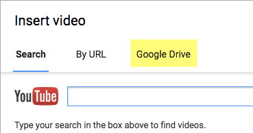 Choose Google Drive along the top