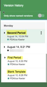 First period second period