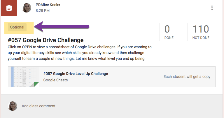Google Drive Challenge in Google Classroom