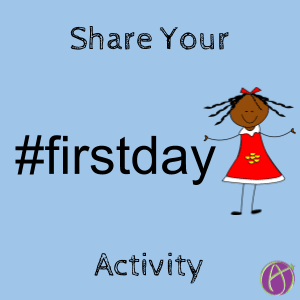 #firstday first day of school activity