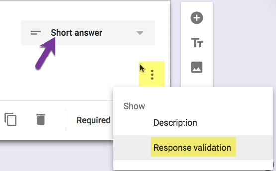 Response validation