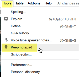 google keep in slides yes please teacher tech