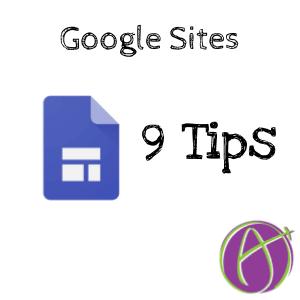 9 Tips for Google Sites