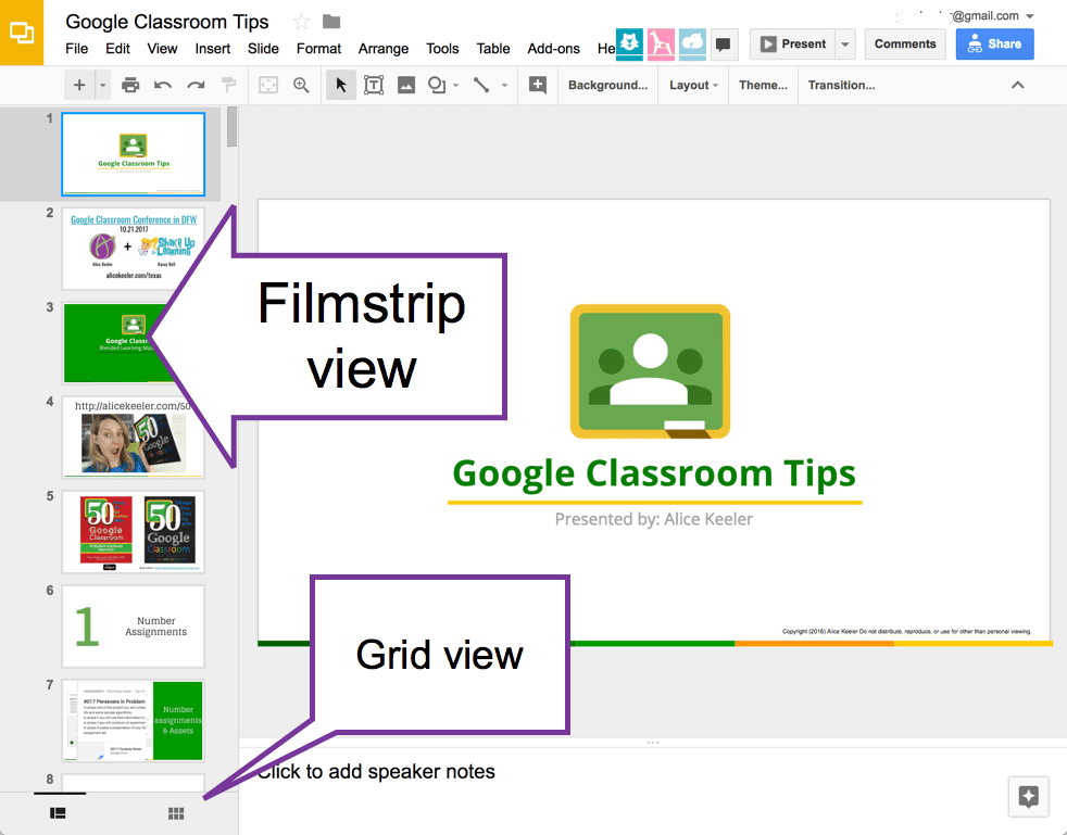 new google slides grid view teacher tech