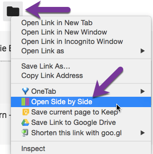 Right click and choose open side by side