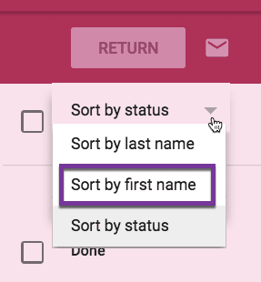 Sort by first name