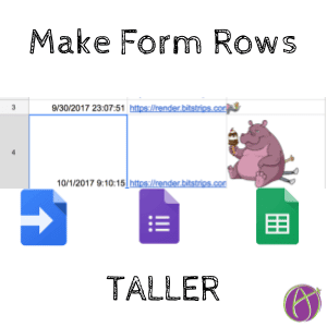 code making Google Forms rows taller