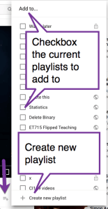 Create a new playlist