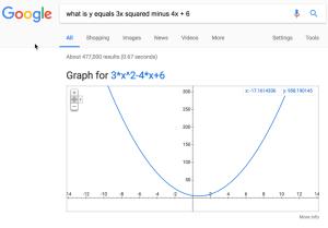 Parabola after asking