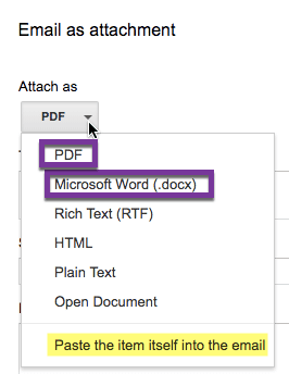 PDF or Microsoft Word