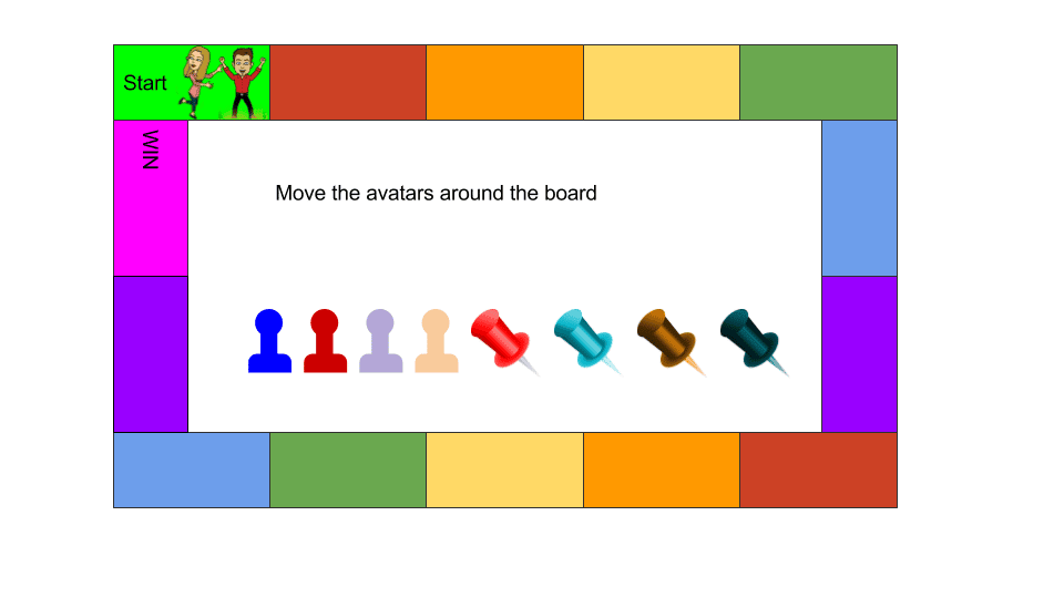 Google Slides Board Game pieces or avatars