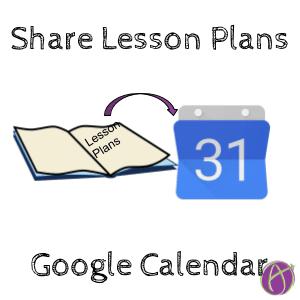 Share Lesson Plans in Google Calendar