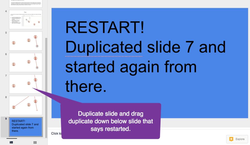 Duplicated slide alert