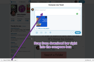 Drag the image from the download bar into a tweet