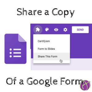 share a copy of a google form