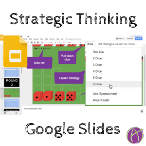 strategic thinking with Farkle in Google Slides