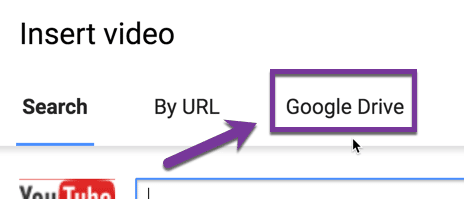Add video from Google Drive