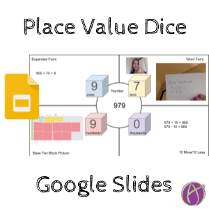 place value google slides dice