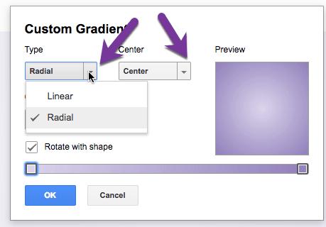 Choose your gradient type