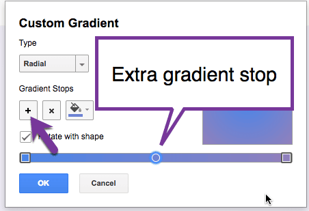 add a gradient stop