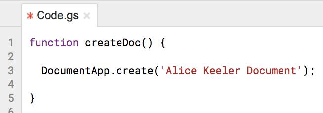 create a Google Doc