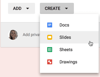 Add slides to Google Classroom