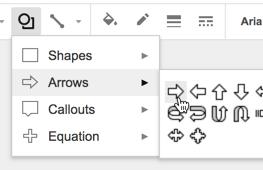 Add shapes to Google Slides