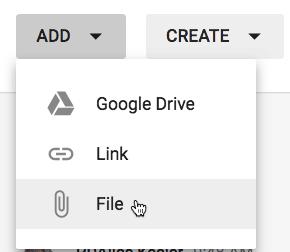 add a file to google classroom