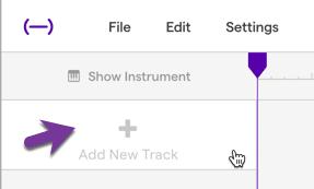 Add a new track