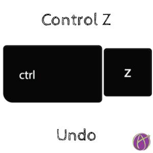 Control Z Undo