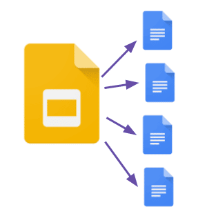 Google Slides to Google Docs
