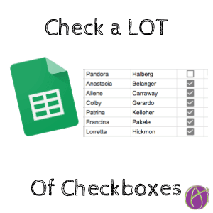 check a lot of checkboxes