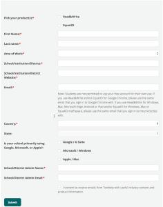 Free for teachers texthelp form