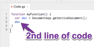 2nd line of code