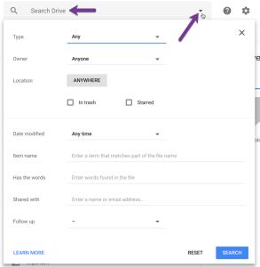 Search Google Drive