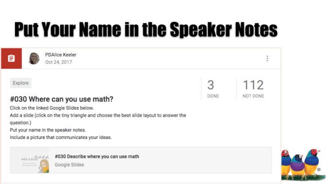 Put your name in the speaker notes