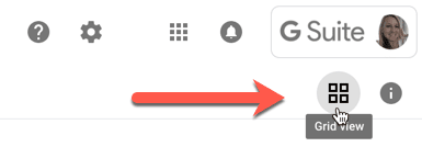 Toggle list view and toggle grid view