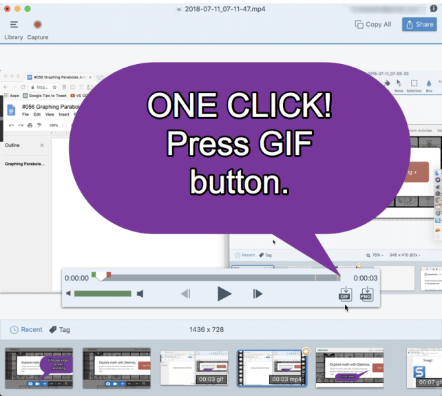 One click press GIF