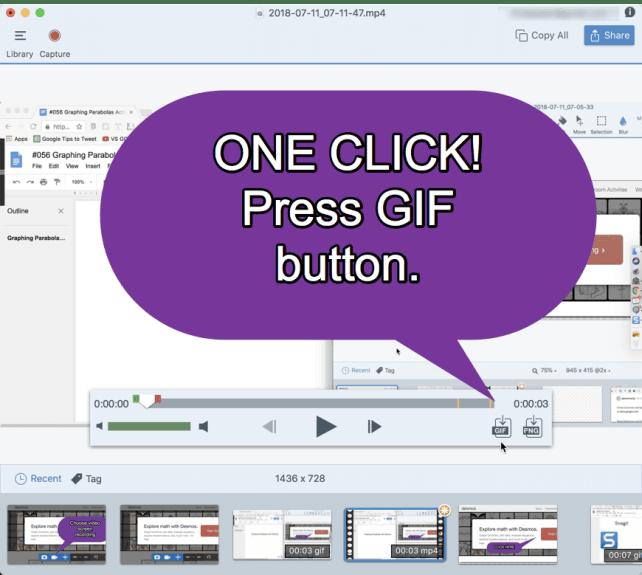 One click press GIF