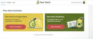 Pear Deck activities