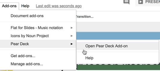 Pear Deck Add on