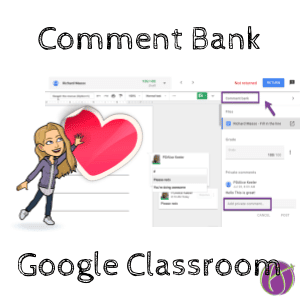 Comment bank Google Classroom