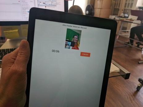 webcam record on Chrometab