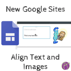 New Google SItes aligned centering text