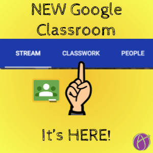new google classroom classwork page