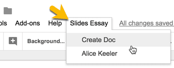 Slides Essay Create Doc