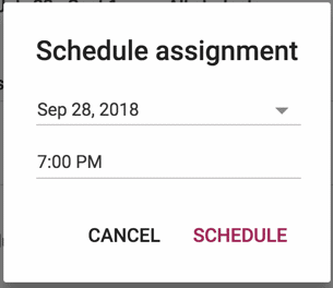 Schedule assignments