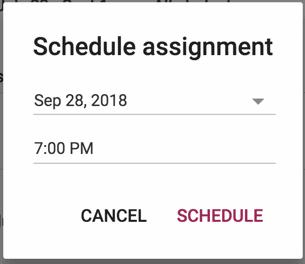 Schedule assignments