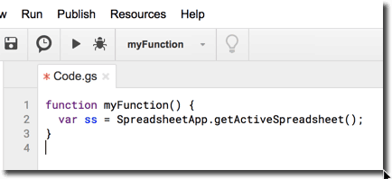 Spreadsheet App code