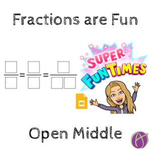 Open Middle: Equivalent Fractions Activity